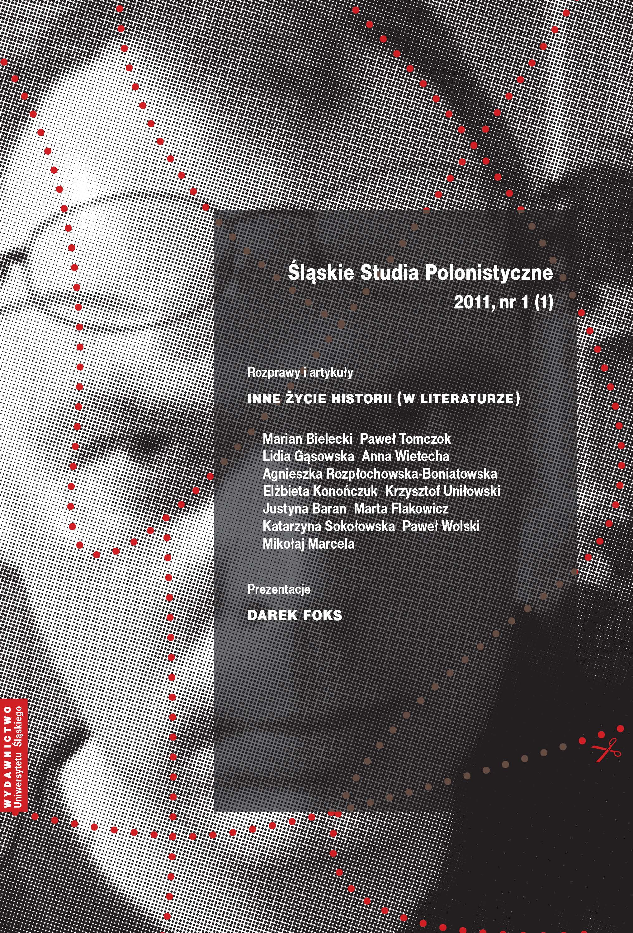 Śląskie Studia Polonistyczne 2011 nr 1 (1)
