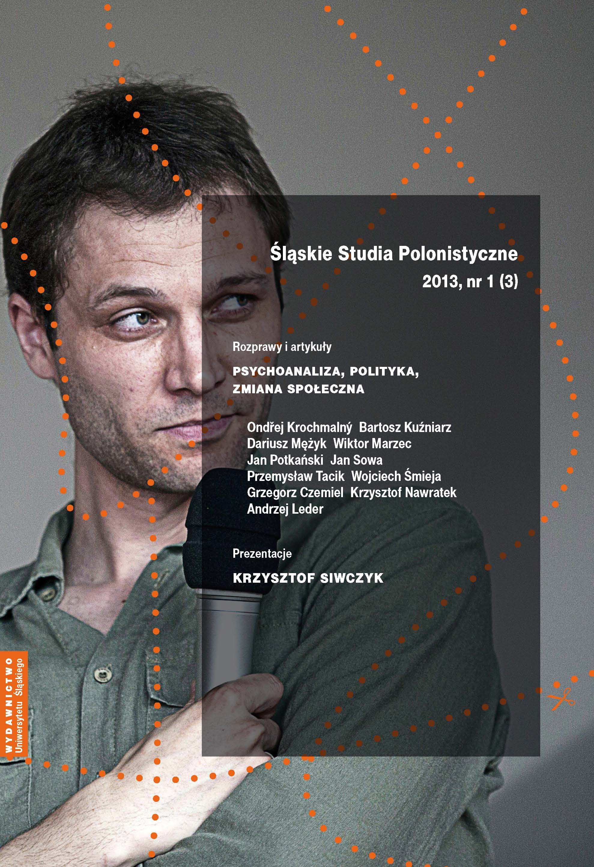 Śląskie Studia Polonistyczne 2013 nr 1 (3)