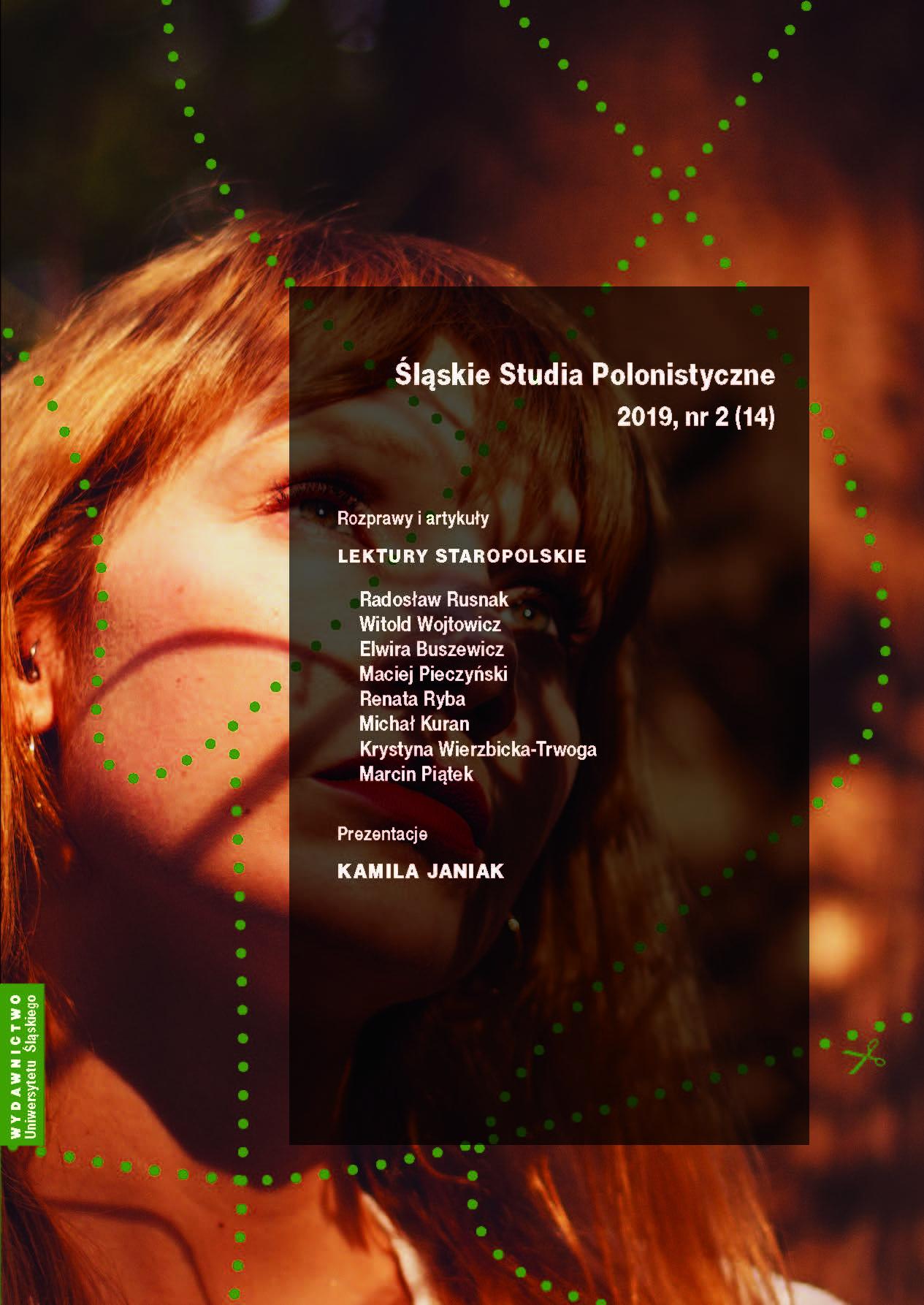 okładka Śląskie Studia Polonistyczne 2019, nr 2 (14)