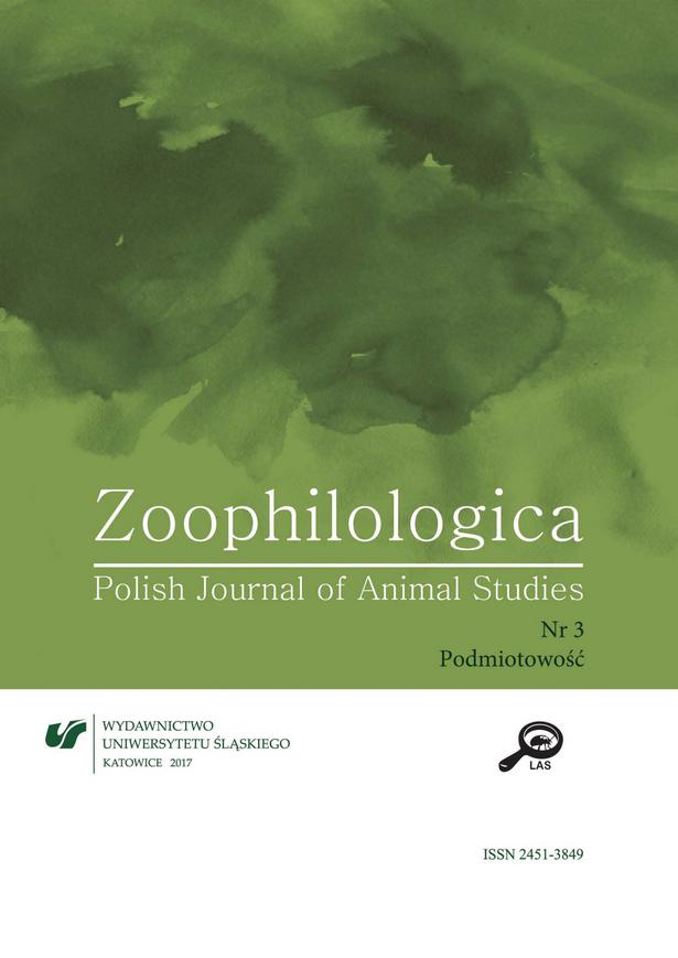 Zoophilologica - T.3 (2017) - Podmiotowość